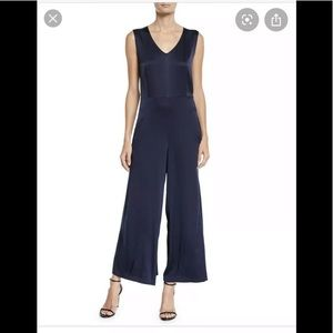 Eileen Fisher silk charmeuse v neck jumpsuit